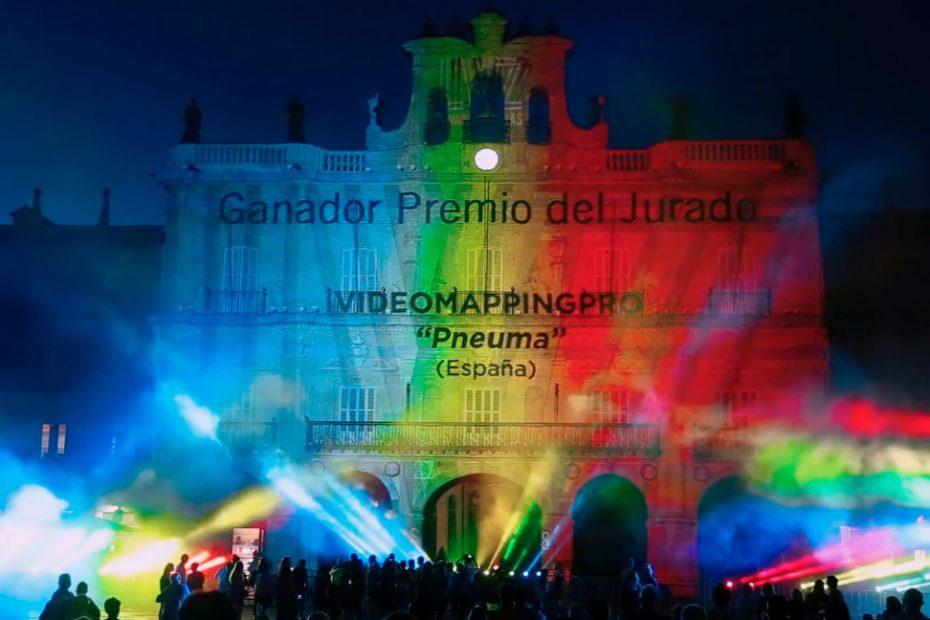Pneuma 1re premio como Video Mapping más viral del Festival Luz y Vanguardias 2018